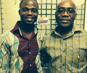 Manasseh Azure Awuni and the CEO of Multimedia Group Limited, Kwesi Twum
