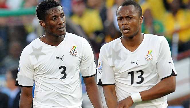 Dede Ayew and Asamoah Gyan