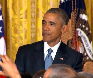 Obama tells heckler and orders secret service to walk him out.