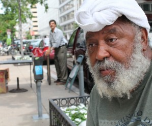 Alfred Postell is seen in downtown Washington. He lives on the streets despite graduating from Harvard Law School. (Terrence McCoy/The Washington Post)