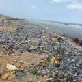 "The sea ""throws up"" Accra's plastic waste. Photo credit: Nshorna"