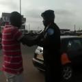 man vs police