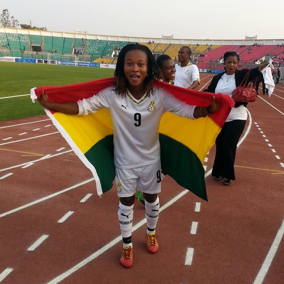 Samira plays for the Black Queens of Ghana