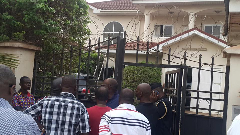 J.B. Danquah Adu's house, where he was killed