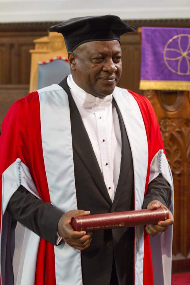 President John Dramani Mahama was yesterday awarded an honorary  doctorate degree