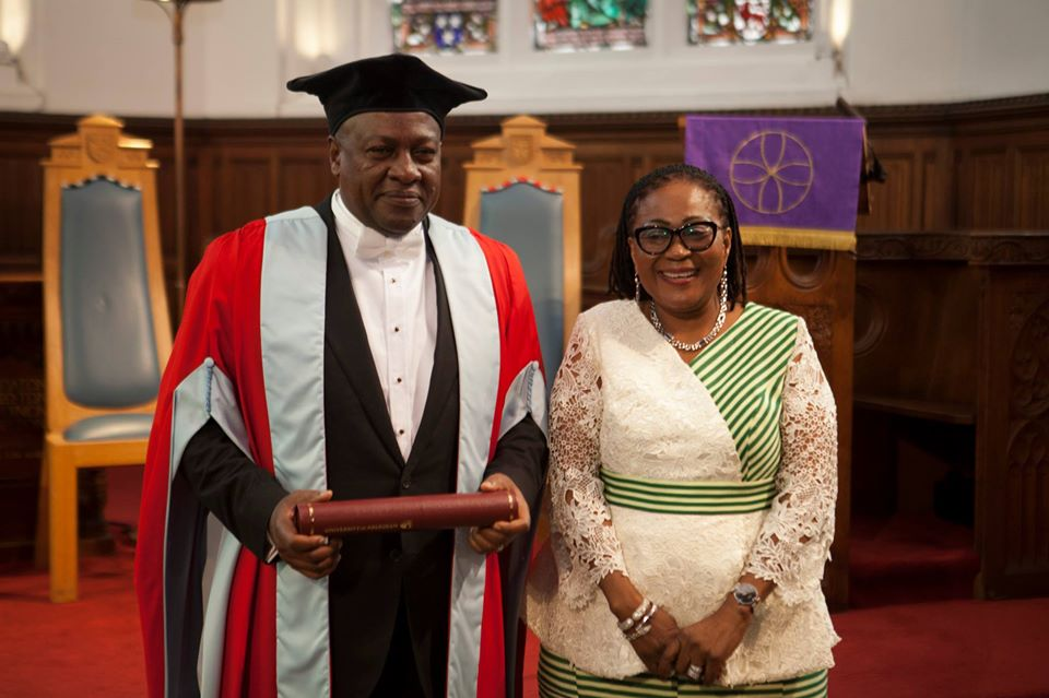 President Mahama and his wife at the ceremony