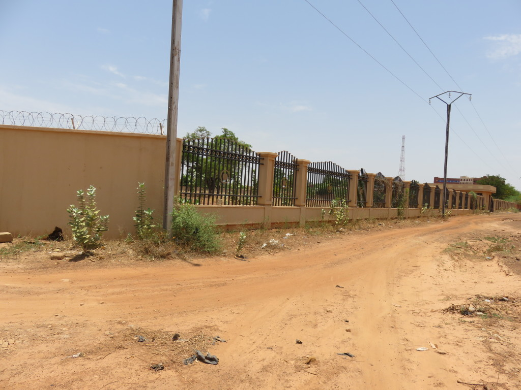 Ghana Embassy Fence wall in Ouagadougou