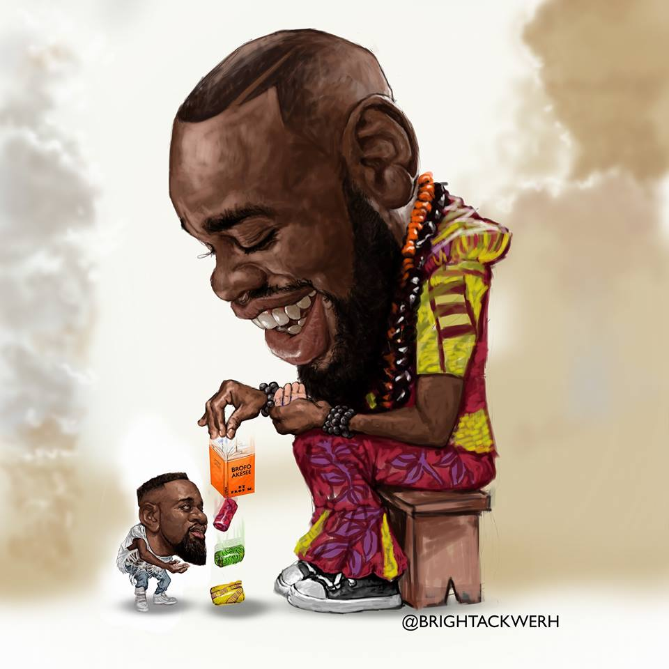Brightackwerhs cartoon is one of those messages that depict sarkodies defeat in the ongoing feud
