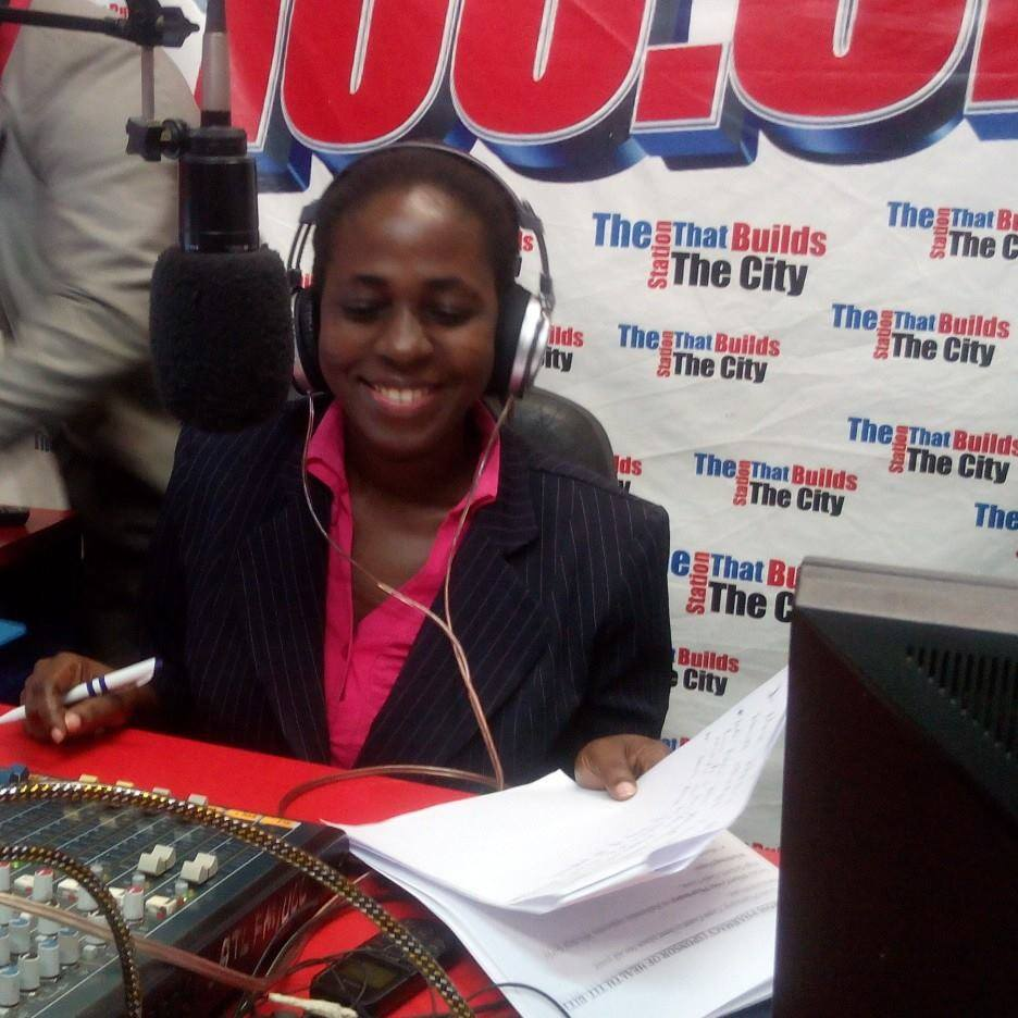 Mary Ama Bawa, the host of ATL FM's morning show