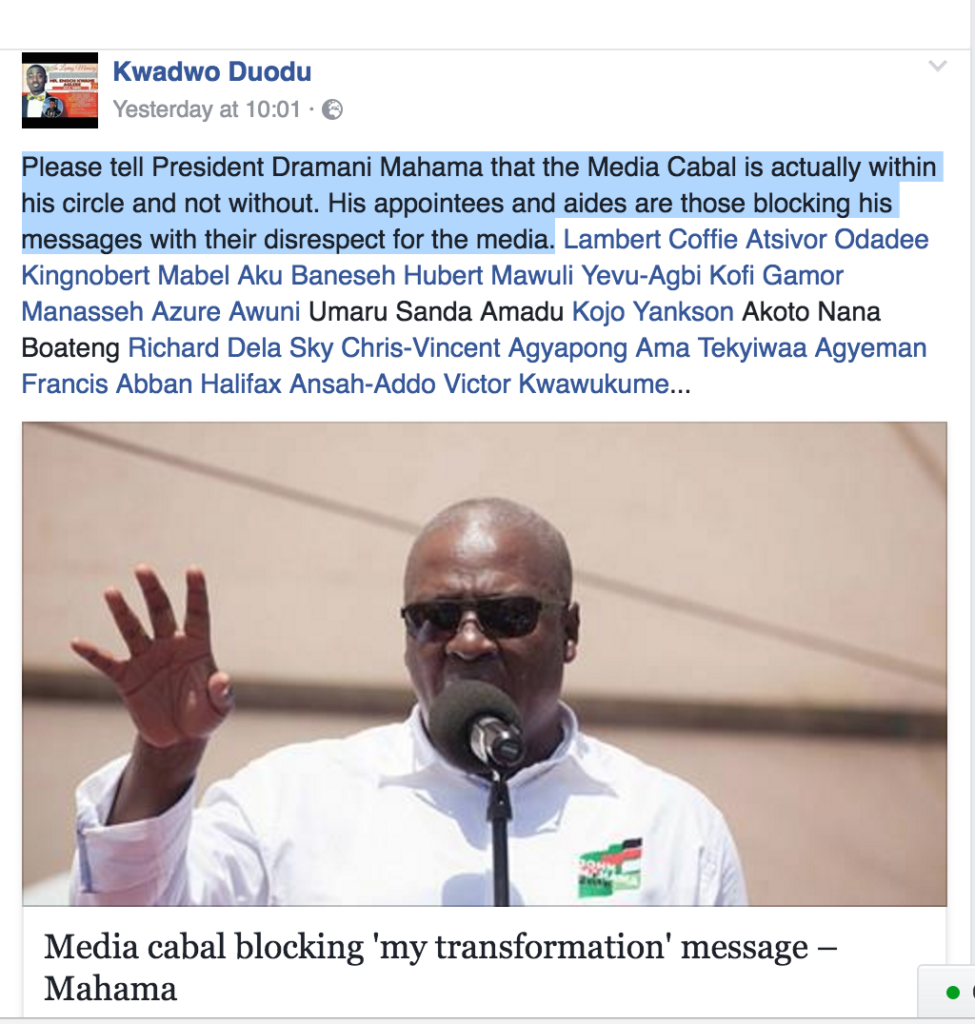 A journalist in the Volta Region, Fred Kwadwo Duodu, and his colleagues in the regional are not happy about how they were treated by the presidential staffers on Monday when the when they covered the President's visit to the Volta Region