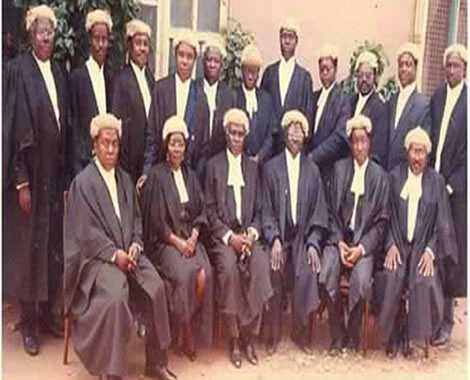 Nana Addo Dankwa Akufo-Addo, (sanding 6th from left) when he was called to the bar