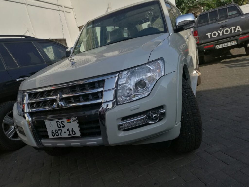 The Mistsuibishi Pajero vehicle allegedly given to Bugri Naabu as a bribe