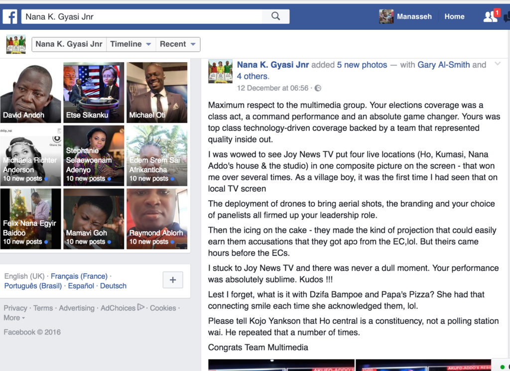 The Multimedia Group received a lot of praises on social media for its comprehensive coverage of the 2016 elections