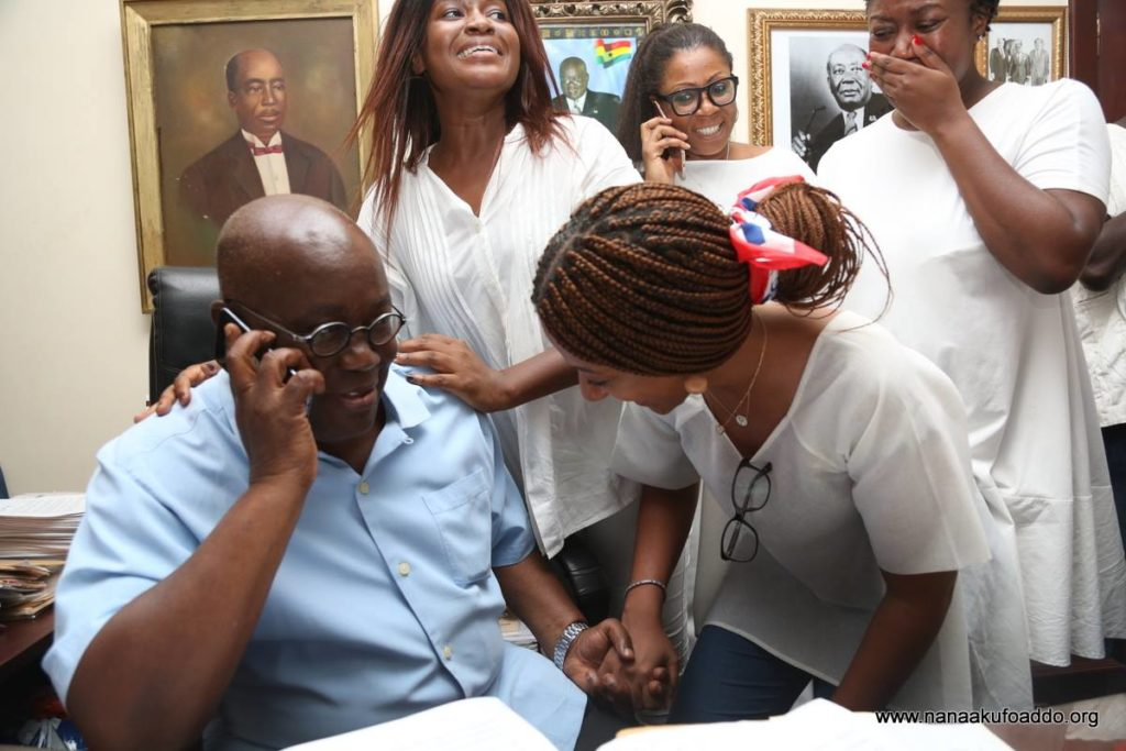 President-elect Nana Akufo-Addo with his daughters