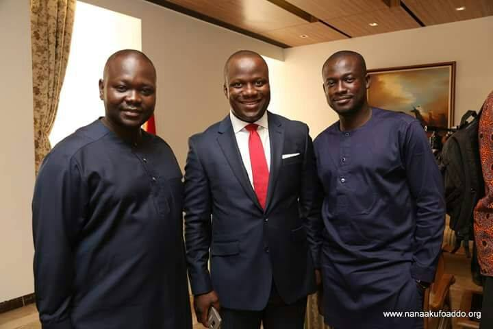 From left to right, Francis Asenso-Okyere, Samuel Abu Jinapor and Eugene Arhin are some of Akufo-Addo's young appointees