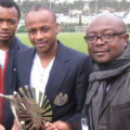 The Ayew Brothers with their father