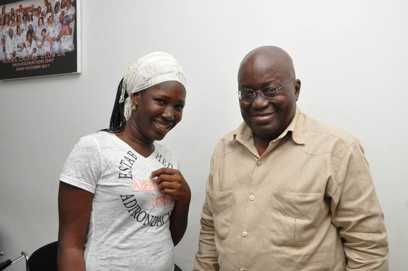 Napaga Tia Sulemana, 30, (pictured above with President-elect Akufo-Addo) has been appointed a presidential staffer
