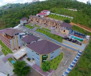 An aerial view of Volta Serene Hotel, Ho