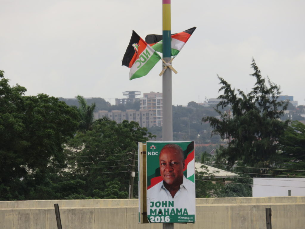 NDC flags and mini-billboards on the Gearge Walker Bush Highway